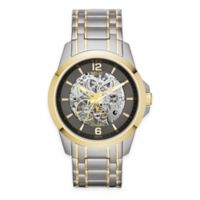Relic® Round Automatic Men's 42mm Exposed Gear Dial Watch in Two-Tone Stainless Steel