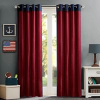 Mi Zone Kids 63-Inch Liam Energy-Saving Grommet Top Window Curtain Panel in Red/Blue