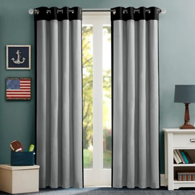 Mi Zone Kids 63 Inch Liam Energy Saving Grommet Top Window Curtain Panel In