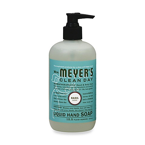 image of Mrs. Meyer's® 12.5 Oz. Clean Day Basil Scented Liquid Hand Soap