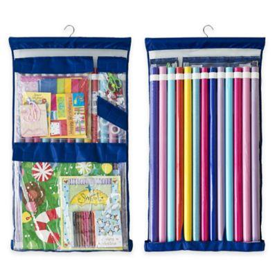 Superieur Wrappy Original Gift Wrap Storage Organizer In Royal Blue