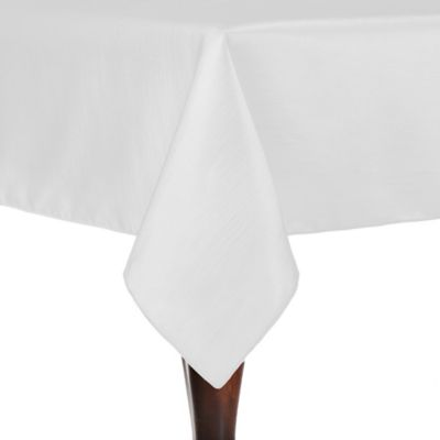 Majestic 54 Inch X 54 Inch Square Tablecloth In White