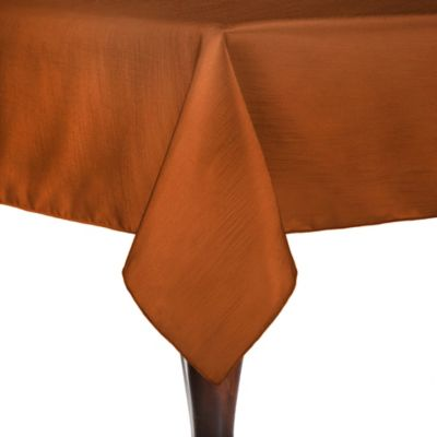 Superior Majestic 72 Inch X 72 Inch Square Tablecloth In Burnt Orange