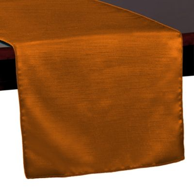 Captivating Majestic 72 Inch Table Runner In Burnt Orange