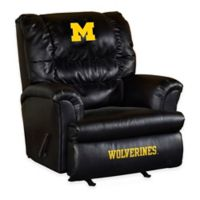 University of Michigan Leather Big Daddy Recliner