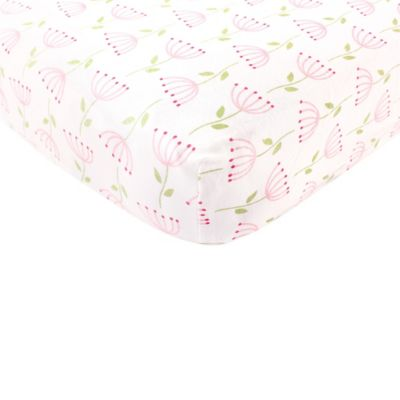 babyvision touched by nature 100 organic knitted cotton flower fitted crib sheet