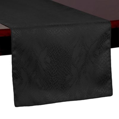 Kenya 108 Inch Table Runner In Black