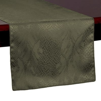 Lovely Kenya 72 Inch Table Runner In Jungle Green