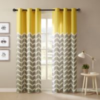 Intelligent Design Alex 84-Inch Grommet Top Window Curtain Panel Pair in Yellow