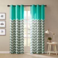 Intelligent Design Alex 63-Inch Grommet Top Window Curtain Panel Pair in Aqua