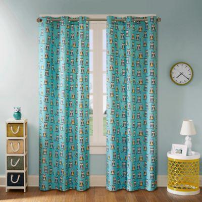 room decor u003e mi zone kids twyla 63inch grommet top window curtain panel pair