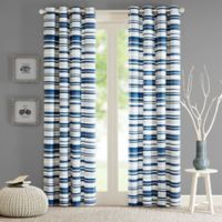 Intelligent Design Sadie 84-Inch Grommet Top Window Curtain Panel in Blue