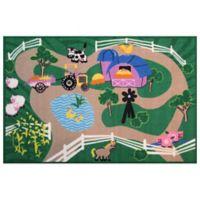 Fun Rugs™ Fun Time Farms Road 4-Foot 10-Inch x 3-Foot 3-Inch Area Rug