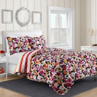 Shannon Reversible Full/Queen Quilt Set in Pink Floral