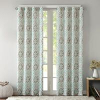 Intelligent Design Seville 84-Inch Grommet Top Window Curtain Panel in Aqua