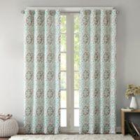 Intelligent Design Seville 63-Inch Grommet Top Window Curtain Panel in Aqua