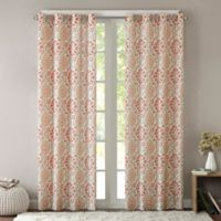 Intelligent Design Seville 63-Inch Grommet Top Window Curtain Panel in Coral