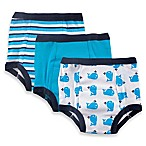 Baby Vision® Luvable Friends® Whale 3-Pack Size 2T Water-Resistant Training Pants in Blue
