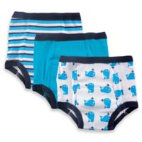 Baby Vision® Luvable Friends® Whale 3-Pack Size 3T Water-Resistant Training Pants in Blue