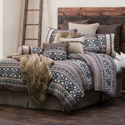 hiend accents tucson queen comforter set in brown - Comforters Queen