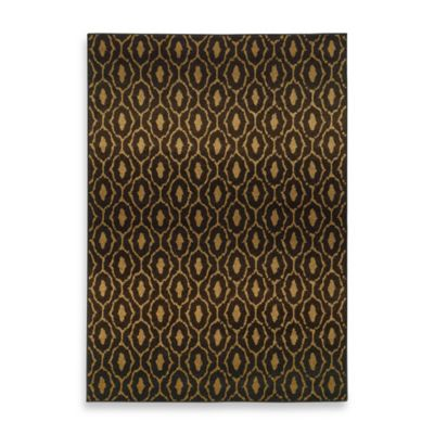 parker circles 3 foot 10 inch x 5 foot 5 inch area rug in black gold