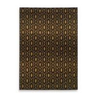 Oriental Weavers Parker Circles 9-Foot 10-Inch x 12-Foot 10-Inch Area Rug in Black/Gold