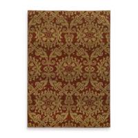 Oriental Weavers Parker Damask 3-Foot 10-Inch x 5-Foot 5-Inch Area Rug in Rust/Gold