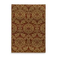 Oriental Weavers Parker Damask 9-Foot 10-Inch x 12-Foot 10-Inch Area Rug in Rust/Gold