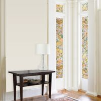 Dogwood Premium Static Cling Sidelight Window Film in Gold