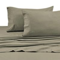 Tribeca Living 170 GSM Solid Flannel Deep Pocket Full Sheet Set in Taupe