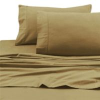 Tribeca Living 200 GSM Solid Flannel Deep Pocket Twin Sheet Set in Cappuccino