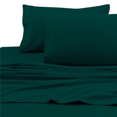 Tribeca Living 200 GSM Solid Flannel Deep Pocket Twin Sheet Set In Teal