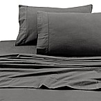 Tribeca Living 200 GSM Solid Flannel Deep Pocket Twin XL Sheet Set in Grey