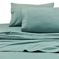 Tribeca Living 200 GSM Solid Flannel Deep Pocket Twin Sheet Set in Aqua