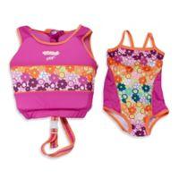 Aqua Leisure® Girls' Small/Medium 2-Piece Swim Trainer in Pink