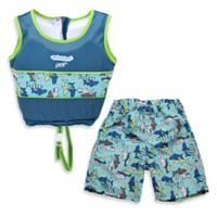 Aqua Leisure® Boys' Small 2-Piece Swim Trainer in Blue