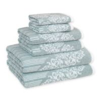 Linum Home Textiles Gioia Cotton Bath Towels in Soft Aqua (Set of 6)