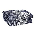 Linum Home Textiles Gioia Turkish Cotton Bath Towels in Ocean Blue (Set of 2)