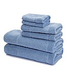 Mei-tal Turkish Cotton Jacquard Bath Towels in Blue (Set of 6)