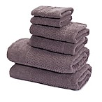 Mei-tal Turkish Cotton  Jacquard Bath Towels in Grey (Set of 6)