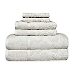 SALBAKOS Sculpted Jacquard 6-Piece Towel Set in White