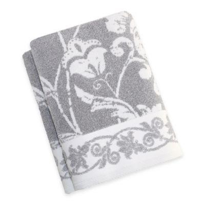 Penelope Turkish Cotton Bath Towels In Dove Grey Set Of 2