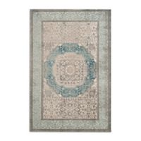 Safavieh Sofia Collection Medallion 5-Foot 1--Inch x 7-Foot 7-Inch Area Rug in Blue/Grey