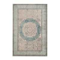 Safavieh Sofia Collection Medallion 6-Foot 7-Inch Area Rug x 9-Foot 2-Inch Area Rug in Blue/Grey