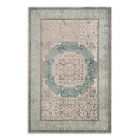 Safavieh Sofia Collection Medallion 9-Foot x 12-Foot Area Rug in Blue/Grey