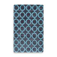 Rugs America Jourdan Circles 2-Foot x 3-Foot Accent Rug in Navy Blue