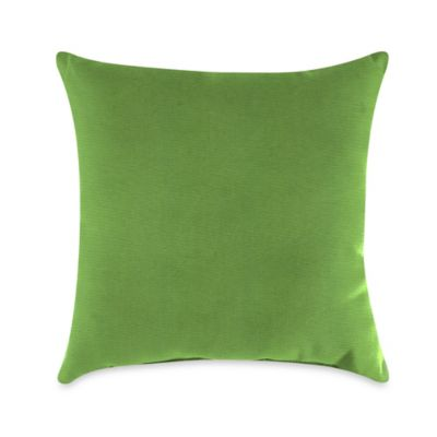 gingko outdoor throw pillow in sunbrella ginkgo