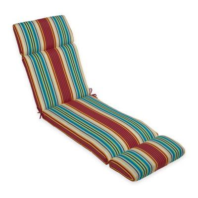 Chaise Cushion In Modern Stripe