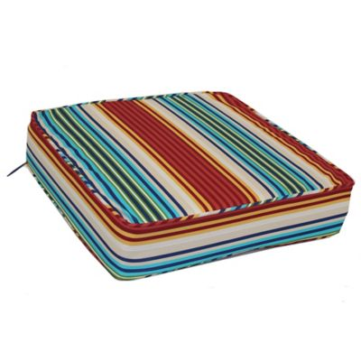 Deep Seat Cushion In Modern Stripe