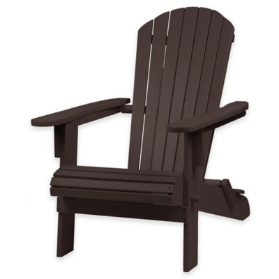 Westerly Acacia Wood Adirondack Folding Chair in Espresso. Buy Back Wood Folding Chair from Bed Bath   Beyond